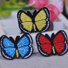 Beautiful Butterfly  broidered Iron On Patches Clothes Sequins Patch  DIY Hotfix Motif AppliquePyrograph Heat Transfer