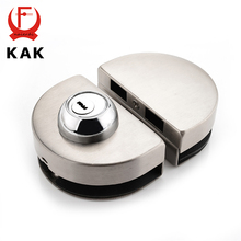 KAK Double Glass Door Lock 304 Stainless Steel Single Open Frameless Door Hasps For 10-12mm Thickness Furniture Hardware
