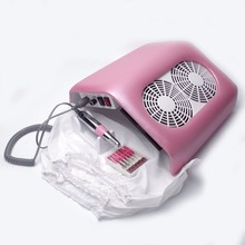 Strong Power 48W Nail Dust Collector 2 Fans Nail Fust Fan Nail Dust Collector Cacuum Collector with 3 bags Nail Art Machine(China)