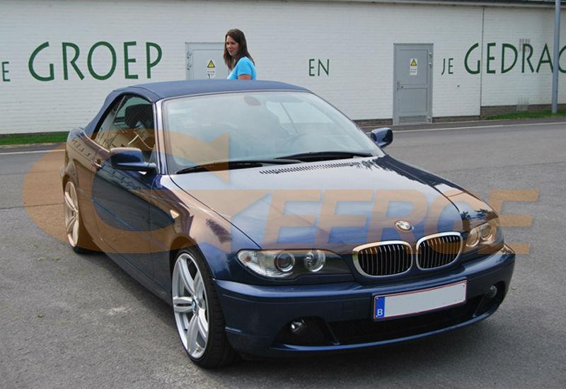ccfl angel eyes BMW 3 Series E46 Convertible Coupe Cabrio 2004 2005 2006 LCI Xenon Headlight(2)