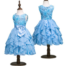 Summer Kids Rose Princess Girl Chiffon Princess Tulle Dresses Girl Tutu for Children Clothing Girls Sequin Party Dress
