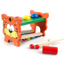 Knock Piano Wooden 8 sounds knock tables early childhood educational toys musical instrument,children's hammer piano toy
