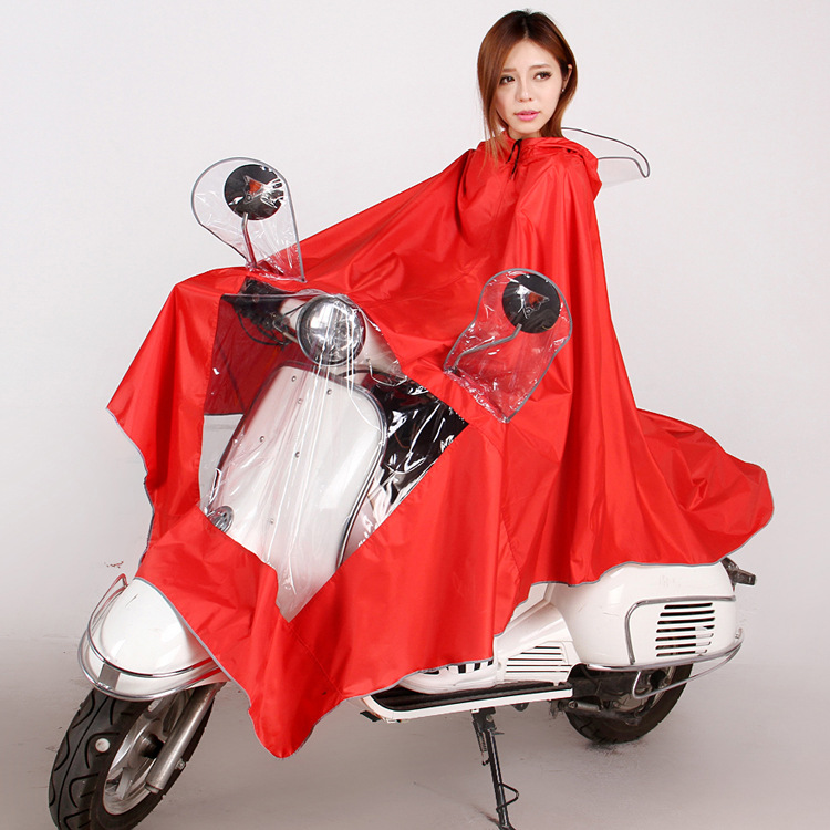 Electric motorcycle bicycle bike double single person Conjoined raincoat man woman Electrombile Rainwear Large Size YY168
