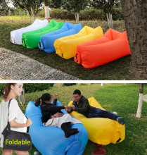 Portable Air Sofa Inflatable 210T Couch Outdoor Waterproof Inflatable Lounger For Camping Portable Air Beds Sleeping air sofa