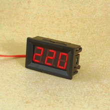 1pcs/lot Red Blue Green 0.56 inch AC70-500V Digital Voltmeter Voltage Panel Meter LED Digital Voltmeter Voltage Display 2 Wires