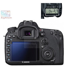 Protective Self-adhesive Glass LCD Main Screen + Info Film Protector Cover Guard for Canon 7D Mark II 7D2 7DII MKII