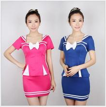 Buy Sexy Flight Attendant Costume Air Hostess Outfits Backless Stewardess Halloween Costumes Officer Erotic Dress Porn