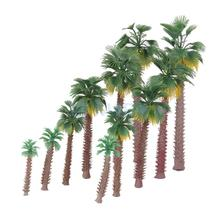 12pcs Layout Model Train Palm Trees Rain Forest Scale 1:45-1:150 6-20CM(China)