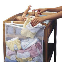 Baby Bed Hanging Storage Bag Mesh Newborn Crib Organizer Toy Diaper Pocket for Baby Cot Bedding Accessories