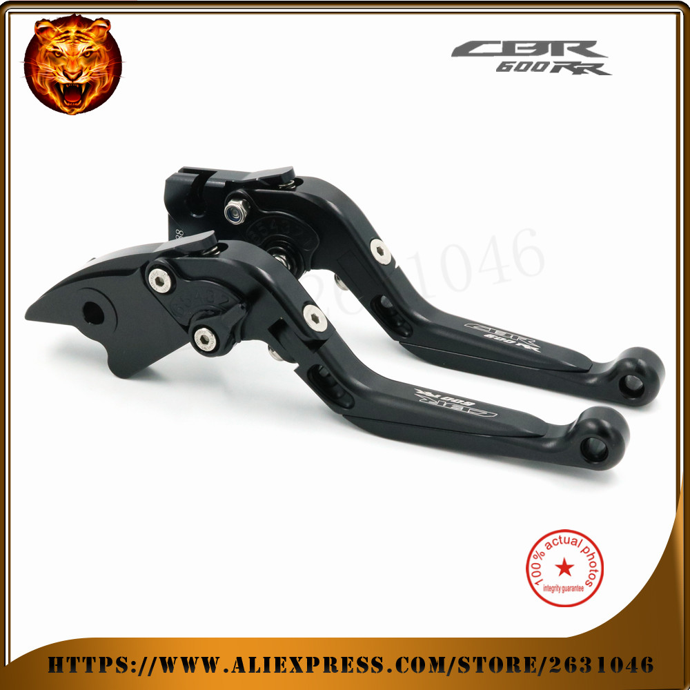 For HONDA  cbr 600rr CBR600RR 2003 2004 2005 2006  Black Red Motorcycle Adjustable Foldable Extendable Brake Clutch Lever <br>