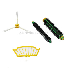 High Quality Can Track Side Brush Filter Mini Kit 3 Armed for iRobot Roomba 500 Series 530 550 560 570 Free Shipping(China)
