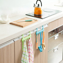 Hanging Kitchen Cupboard Door Back Style Stand Storage Rack Hooks Kitchen Accessories Tool Towel Rack Bowl Cloth Hanger(China)