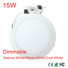 low price!!! 30pcs 15W Surface Mounted LED Panel Light Ceiling Spot Downlight AC85-265V Warm/White/Cold White Dimmable