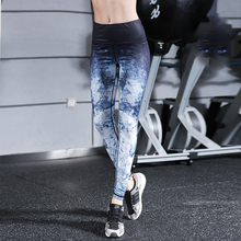 Buy 2018 New Ink Painting Printing Women Leggings Elastic Skinny Sporting Pants Dry Quick High Waist Workout Fitness Leggings for $18.56 in AliExpress store