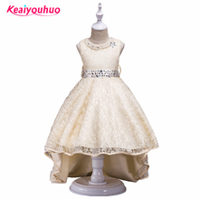Girl Teenager 3-14 Years Vestido 2017 Girl Dresses Elegent Princess party dresses summer Kids Evening Gown Children's Clothing(China)