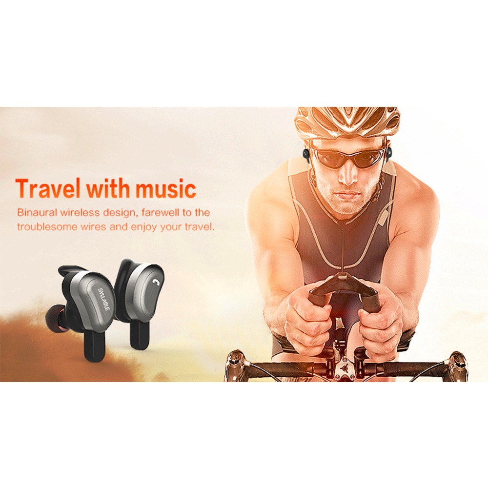 Moveski D9 Wireless Bluetooth Earphone Waterproof Invisible Auriculares Noise Canceling Earbuds Micro Stereo Headset -Black
