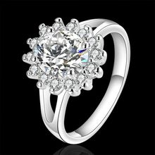 925 jewelry silver plated Jewelry Ring Fine Fashion Silver Plated Zircon Women&Men Finger Ring Top Quality SMTR145