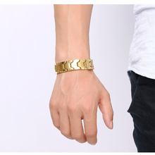 Buy Mprainbow Mens Bracelets Stainless Steel Magnetic Health Therapy Bracelet Men Gold -color Gents Luxury Fashion Jewelry 2017 for $9.71 in AliExpress store