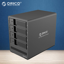 ORICO Tool free Aluminum 4-bay 3.5 USB3.0 to SATA  HDD Enclosure 4bays HDD Docking Station Case for Laptop PC HDD Case-(9548U3)