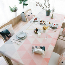 European simple style Plain colour cotton and linen tablecloth for Dinning Table Tea Tables Table cloth 002(China)