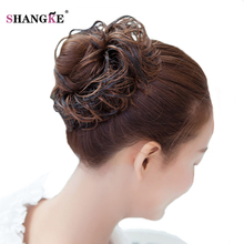 SHANGKE Short Curly Hair Tails Women Hairstyles Heat Resistant Synthetic Hair Pieces Natural Fake Hairpieces Women Hair