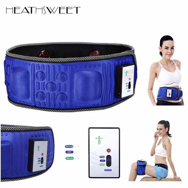 Healthsweet 5 Motors Electric Heat Function Fat Vibration Slimming Massage Belt Lose Weight Machine Wrist Shape Slim Belt Effect<br>