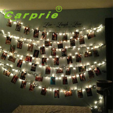 Super 10 LED Clamp Hollow String Light Outdoor Christmas Party Pictures Decor Lamp