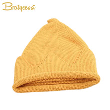 Crown Design Winter Baby Beanie Hat Knitted Steeple Girls Boys Cap for Children 1 PC for 2-4 Years(China)