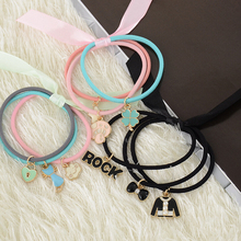 fashion women Bow Elastic Hair ropes girl Hair ties Adorable Ponytail Holder Hair Accessories(China)