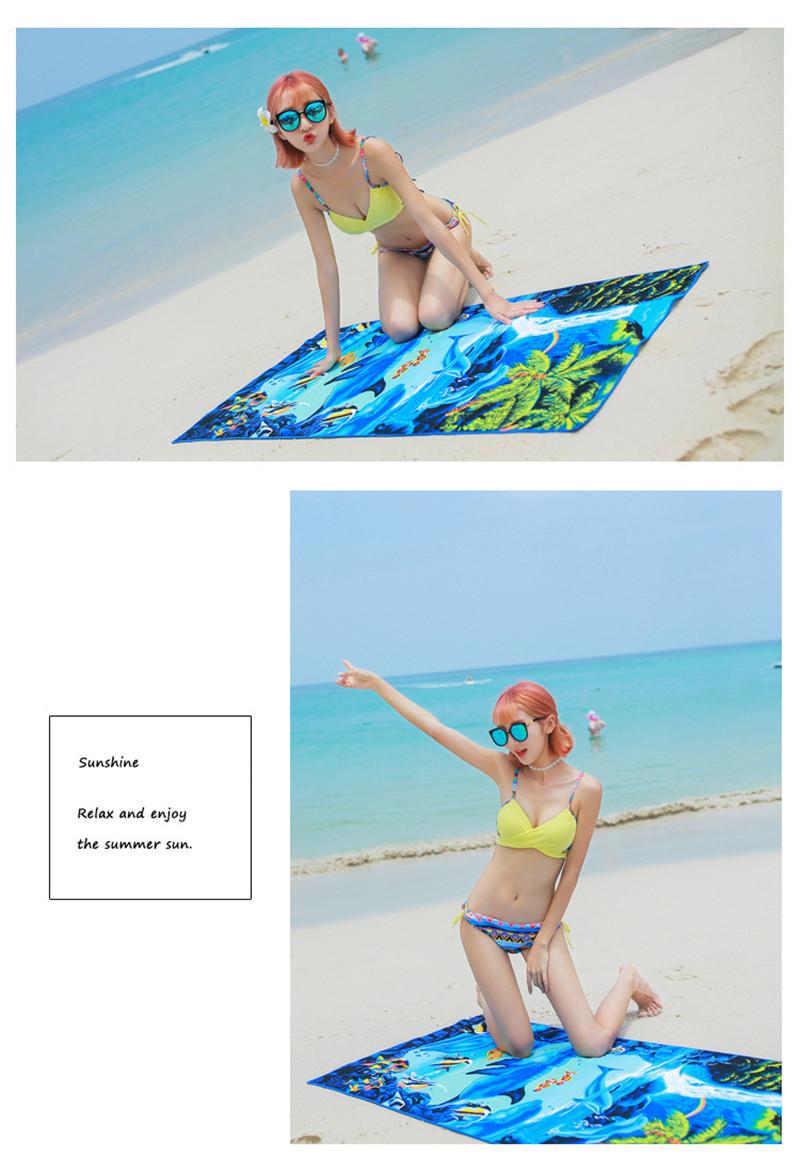 Micro Fiber Printed Beach Towel 140*70cm 42