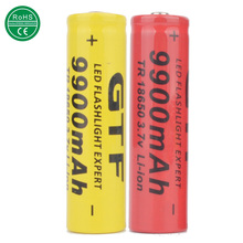 New 2PCS TR 18650 3.7V 9900mAh Rechargeable Li-ion Battery for LED Flashlight ce rohs Recycling batteries liion cell Wholesale