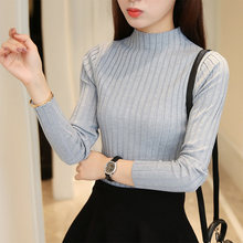 New winter sweater slim Turtleneck Shirt half Korean female long sleeved Pullover thickened thin sweater(China)