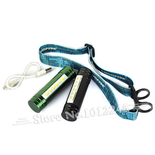 2 in 1 Rechargeable Headlamp Torch 6 LED 500 Lumen Usb Led Head Light Fishing Head Flashlight include 2200mah Battery 3 modes