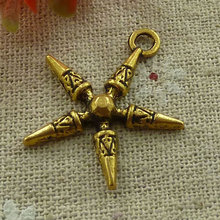 150 pieces Antique gold star charms 28x25mm #2749 Free Ship