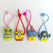 4PCS/Set  New Cartoon Lovely Despicable Me Minions Baby Hairpins Hair rope Set Girls Hair Accessories Children Party Gifts