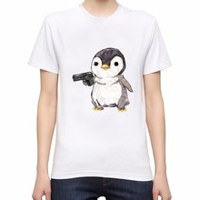 New arrival T shirt men brand clothing fashion printed short Cubic penguin power  male top quality 100% cotton Tees