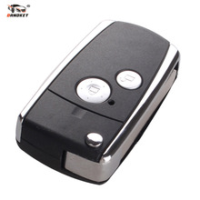 DANDKEY New Car style Modified 2 Buttons Remote Black Flip Key Shell For Honda CIVIC CRV JAZZ ACCORD ODYSSEY With LOGO