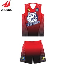 Free shipping 2016 Zhouka Latest Basketball sportswear custom for men