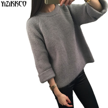 Women Pullover Sweater 2017 Winter New Brand Fashion Warm Pullovers High Quality Candy Colors pull femme Comfort Soft Wool XSS1(China)