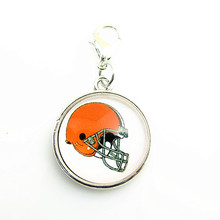 NFL football team logo lobster clasp  dangle charm For Cleveland Browns Fans DIY Pendant Jewelry 10pcs/lot