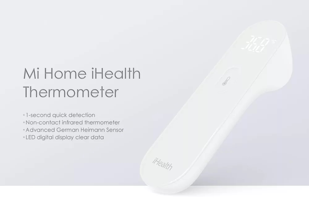 Xiaomi iHealth Thermometer Non Nontact Measurement Xiaomi Thermometer with LED Screen Clear Reading