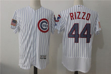 Free shipping MLB Men's Chicago Cubs Anthony Rizzo Road Gray Royal Alternate Home White / Gray, Baseball Jersey(China)