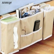 SEREQI Bedside Deskside Hanging Bag Home Foldable Storage Basket Newspaper Phone Cases Organization Accessories Supplies(China)