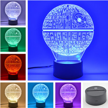 AUCD 3D Table Lamp Action Diagram Children's Kid Christmas Gift Table USB Novelty 7 Colors Change LED Night Light Lamp -FS107(China)