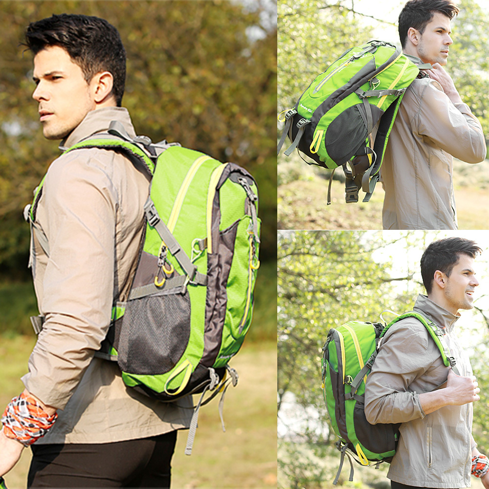 40L Waterproof Climbing Bag Travel Backpack Bike Bicycle Bag Camping Hike Laptop Daypack Rucksack Outdoor Men Women Sport Bags (5)