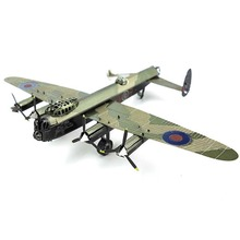 Colorful Ww2 Avro Lancaster Bomber Airplane Fun 3D Metal DIY Miniature Model Kits Puzzle Toys Children Educational Boy Splicing(China)