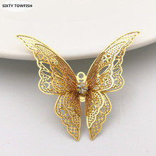 Buy 10 pieces/lot Size 35*45mm Butterfly Brass Antique Bronze/Gold Color Filigree Charms Setting Jewelry DIY Components B10053 for $6.06 in AliExpress store