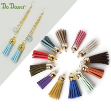 5pcs/lot 38mm Length Suede Tassel For Keychain Cellphone Straps Purse Backpack Earrings bag trinket Charm for DIY jewelry making