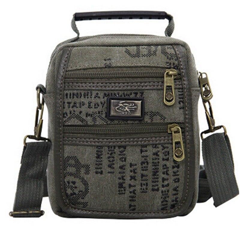 Casual Vintage Canvas Mens Crossbody Bag Flap Small Mini Shoulder Messenger Bags Handbag Male Travel  Zipper Bolsa<br><br>Aliexpress