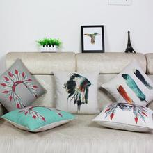 American Indian Style  Art Cotton Personalized Sofa Cushions Office Pillow